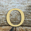 Extra large wooden letter Omicron