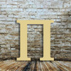 Small wooden craft letters Pi are paintable wood letters