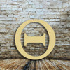 Large wooden greek letter Theta