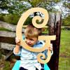 Unfinished DIY Letter Wooden Decor-G