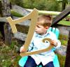 Unfinished DIY Letter Wooden Decor-Z