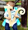 Unfinished DIY Letter Wooden Decor-V