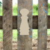 Salt Shaker Unfinished Cutout, Wooden Shape,  Paintable MDF DIY Craft