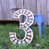 Unfinished Wooden Rockwell Numbers Paintable Cutout-3