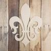 Victorian Fleur De Lis Unfinished Cutout, Wooden Shape, Paintable Wood
