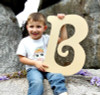 Unfinished DIY Letter Decor Wooden Alphabet-B