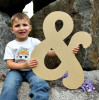 Unfinished DIY Letter Decor Wooden Alphabet-&