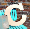 Unfinished Wooden Large Wall Letters-C