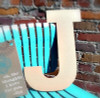 Unfinished Wooden Large Wall Letters-J