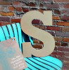 Unfinished Wooden Large Wall Letters-S