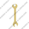 Wrench Unfinished Cutout, Wooden Shape, MDF DIY Craft