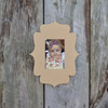 Unfinished Whimsical Picture Frame Wooden Paintable Wood Art Style
