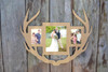 Unfinished Deer Antler Picture Frame Wide Three Photos