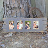 Unfinished 4 Picture Frame Paintable Driftwood Cutout Shape