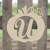 Frame Script Letter, Pumpkin Wooden - Unfinished  DIY Craft