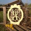Charlie Oval Frame Monogram Letter Wooden - Unfinished  DIY Craft