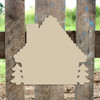 Gingerbread House Unfinished Cutout, Wooden Shape,  DIY Craft