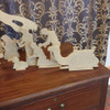 Free Standing Table Top Nativity Scene , Unfinished MDF