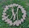 Spring Floral Wreath Monogram Framed Letter Wooden Unfinished  DIY Craft