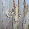 Unfinished Wooden Alphabet Letter Wall Decor Watermelon Wood Letter
