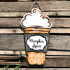 Pumpkin Spice or Peppermint Latte To-Go Cup, Unfinished Cutout, Wooden Shape, Paintable Wooden