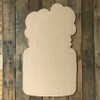 Mason Jar with Cotton Bolls Wooden Shape, Paintable Wooden MDF