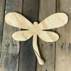 Wooden Pine Cutout, Dragonfly, Unfinished Wood Shape, DIY Craft