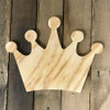 Wooden Pine Cutout, Crown, Unfinished Wood Shape