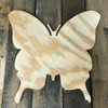 Wooden Pine Cutout, Butterfly, Unfinished Wood Shape, DIY Craft