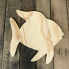 Wooden Pine Shape, Angel Fish, Unpainted Wooden Cutout Craft
