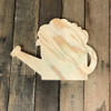 Wooden Pine Shape, Watering Can, Unpainted Wood Cutout Craft