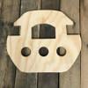 Wooden Pine Shape, Ark, Unpainted Wood Cutout Craft