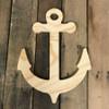 Wooden Pine Shape, Anchor, Unpainted Wood Cutout Craft