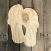 Wooden Pine Shape, Double Flipflop, Unpainted Wood Cutout Craft