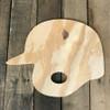 Wooden Pine Shape, Baseball Helmet, Unpainted Wood Cutout Craft