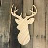 Wooden Pine Shape, 8 Point Buck, Unpainted Wood Cutout Craft