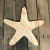 Wooden Pine Shape, Star Fish, Unpainted Wood Cutout Craft