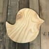 Wooden Pine Shape, Chick Bird, Unpainted Wood Cutout Craft
