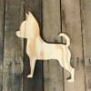 Wood Pine Shape, Chihuahua,  Unpainted Wood Cutout Craft