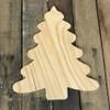 Wood Pine Shape, Christmas Tree,  Unpainted Wood Cutout Craft