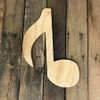 Wood Pine Shape, Eighth Note,  Unpainted Wood Cutout Craft
