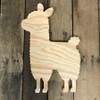 Wood Pine Shape, Llama, Unpainted Wood Cutout