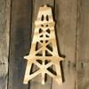 Wood Pine Shape, Oil Rig, Unpainted Wooden Cutout DIY
