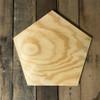 Wood Pine Shape, Pentagon, Unpainted Wooden Cutout DIY