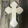 Unfinished Wooden Wall Hanging Cross, Wall Craft Pine (1)