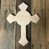 Wood Cross Shape, Unfinished Hand Crafted Cross Pine (5)