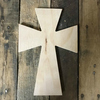 Unfinished Wood Cross, Wall Hanging Cross, Wood Art Pine (13)