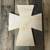 Unfinished Wooden Wall Hanging Cross, Wall Craft Pine (45)