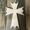 Wooden Wall Cross, Paintable Cross Craft, Wall Art Pine (49)