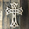 Paintable Wall Hanging Cross, Wooden Unfinished Cross Pine (53)